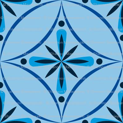 Moroccan Tiles 2 - Blue