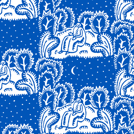 stargazer blue fabric by keweenawchris on Spoonflower - custom fabric