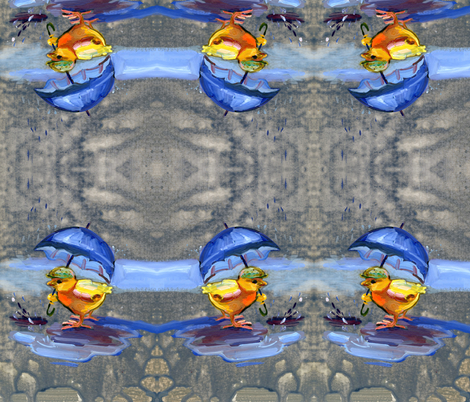 chick_in_the_rain_new_small fabric by slick on Spoonflower - custom fabric