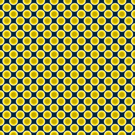 Dotty Dots - Blue-Yellow3 fabric by shannonmac on Spoonflower - custom fabric