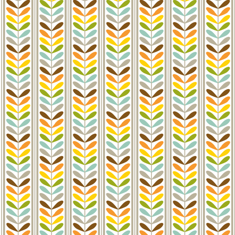 Small Colorful Striped Leaves fabric by jennifercolucci on Spoonflower - custom fabric