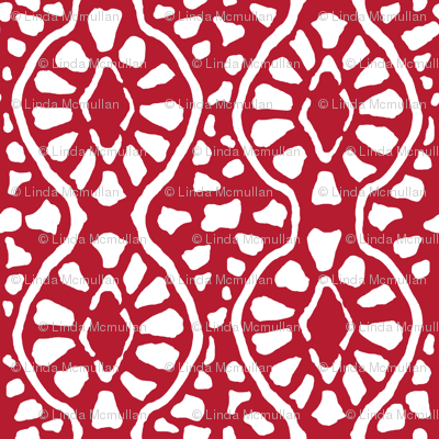 Cobblestone Trellis Red