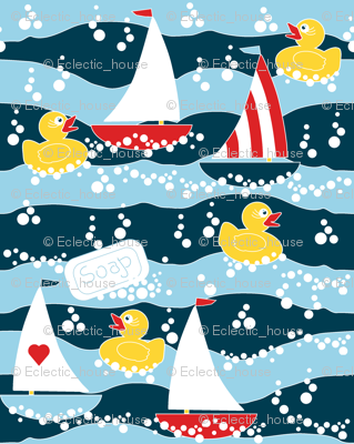 Clean Sailing Ducks spoonflower0188