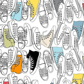 All-Stars || sneakers tennis shoes fashion sportsgeek chic punk emo