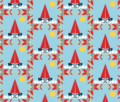Sailing into the Sunshine fabric by artist4god on Spoonflower - custom fabric