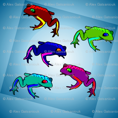 Frogs tiles