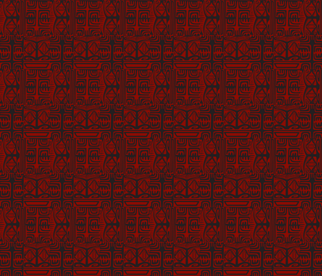 Kon Klassic red fabric by sophista-tiki_by_dawn_frasier on Spoonflower - custom fabric