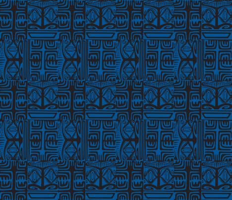 Kon Klassic  blue fabric by sophista-tiki_by_dawn_frasier on Spoonflower - custom fabric