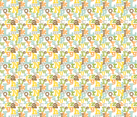 Small Colorful Sketched Alphabet fabric by jennifercolucci on Spoonflower - custom fabric