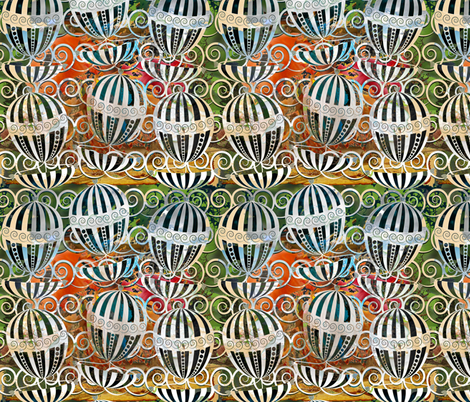 happy sailing fabric by kociara on Spoonflower - custom fabric