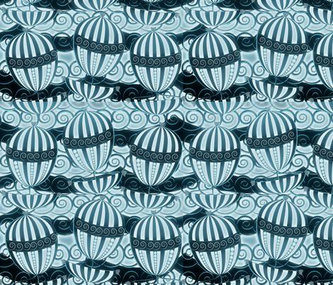 sailing in the dark fabric by kociara on Spoonflower - custom fabric