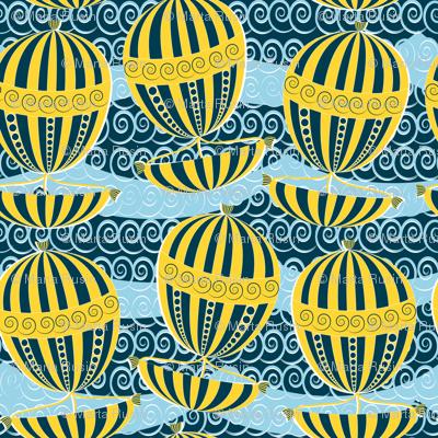 sailing yellow boats