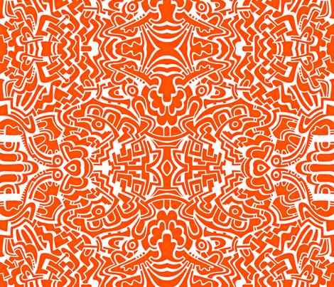 Orange you glad I didn't say banana? fabric by whimzwhirled on Spoonflower - custom fabric
