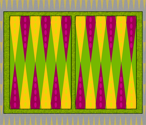Bright Backgammon Travel fabric by wren_leyland on Spoonflower - custom fabric