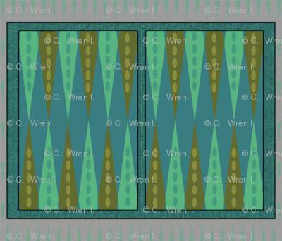 Backgammon Game Turquoise