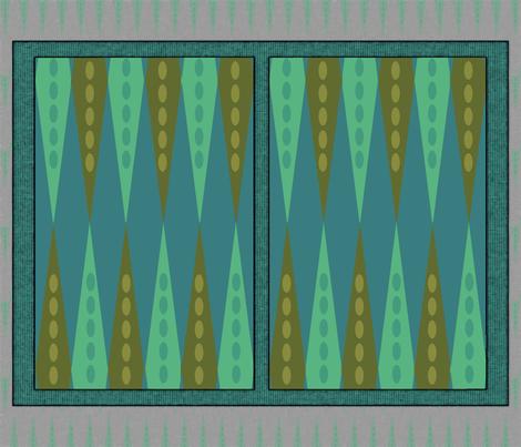 Backgammon Game Turquoise fabric by wren_leyland on Spoonflower - custom fabric