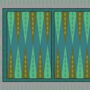 Backgammon Game Turquoise