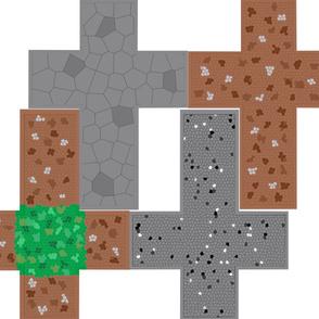 Pixelated Cube Block Pillows