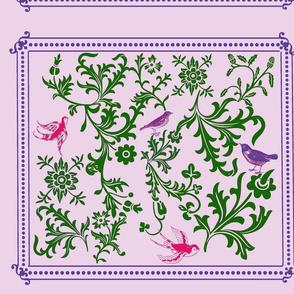 teribr's bird & vine purple