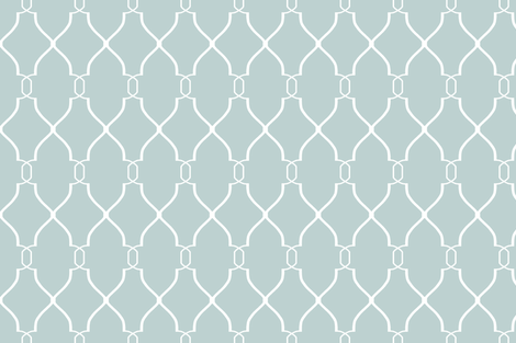 Laura Trellis in Spa Blue fabric by willowlanetextiles on Spoonflower - custom fabric