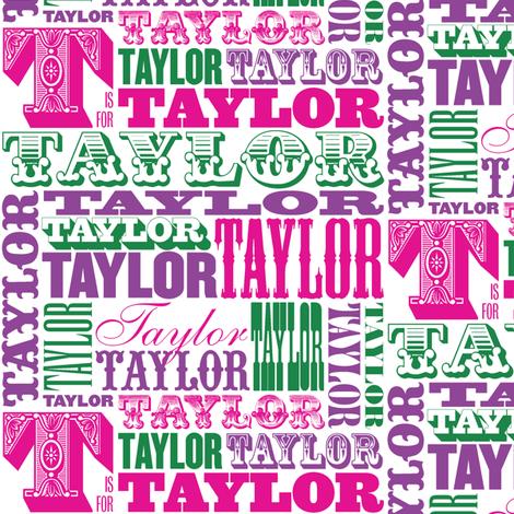 Taylor (Custom) fabric by pennycandy on Spoonflower - custom fabric