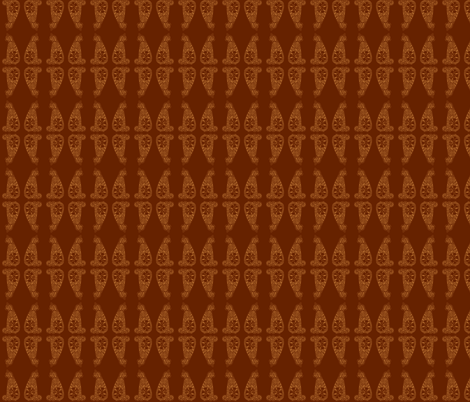 CatsMeow - sm - peru & dark brown   fabric by celttangler on Spoonflower - custom fabric