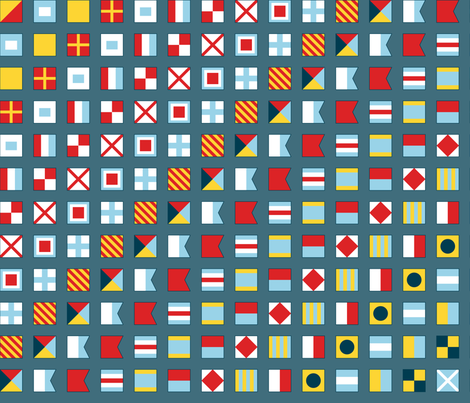 Flags Ahoy! fabric by jjtrends on Spoonflower - custom fabric