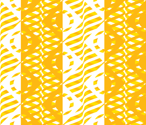 Just Me and My Helix Yellow White & Gold fabric by glimmericks on Spoonflower - custom fabric