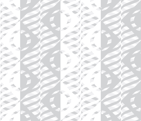 Just Me and My Helix Silver fabric by glimmericks on Spoonflower - custom fabric