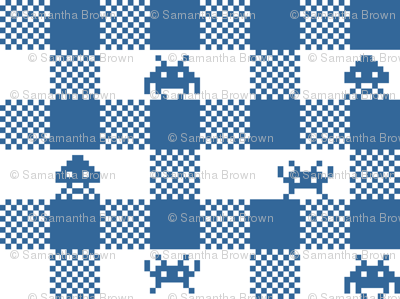 Space Invaders gingham