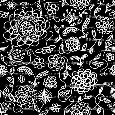 Crown_FLowers_Blank_and_white
