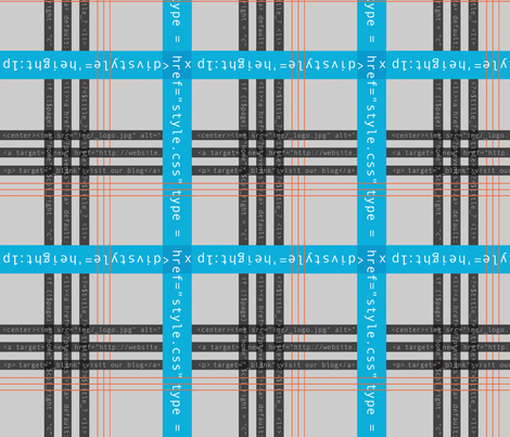 Geek Chic Plaid with Code fabric by amygranger on Spoonflower - custom fabric