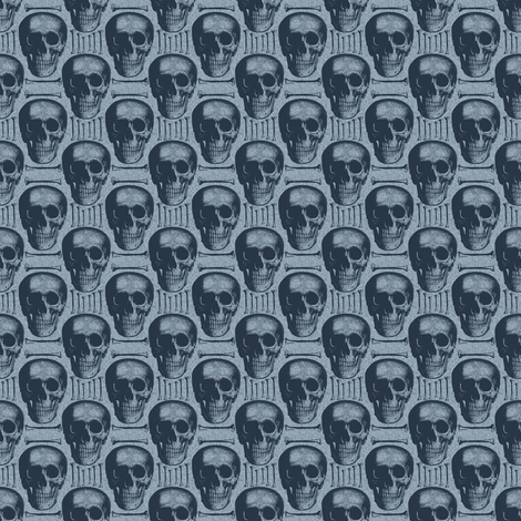burlap skulls&bones large-ch fabric by susiprint on Spoonflower - custom fabric
