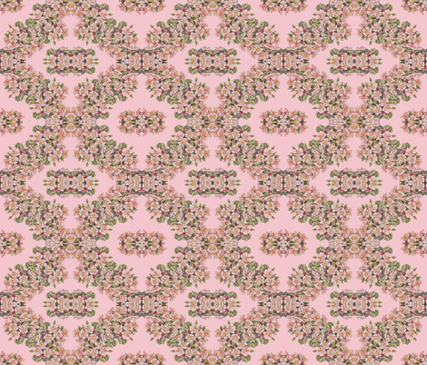 Apples Blossoms in Mirror Repeat fabric by anniedeb on Spoonflower - custom fabric