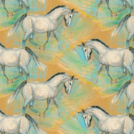 White Horse 2 fabric by eclectic_house on Spoonflower - custom fabric