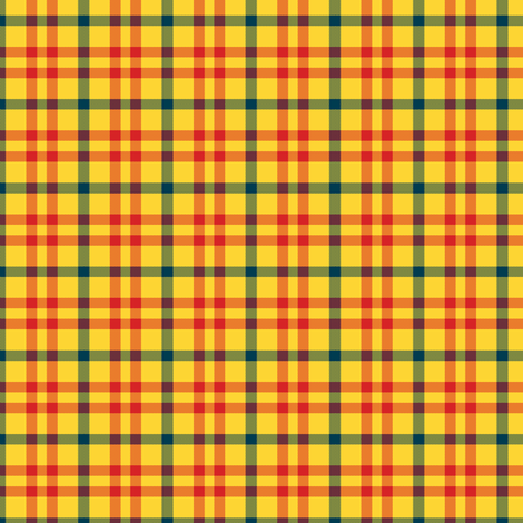 plaid_glowing_sunset fabric by khowardquilts on Spoonflower - custom fabric