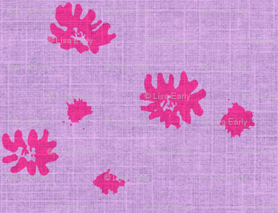 Lovely Linens (Fuchsia and Periwinkle)
