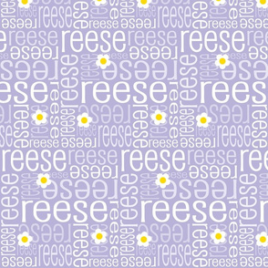 Personalised Name Fabric - Lavender Daisies