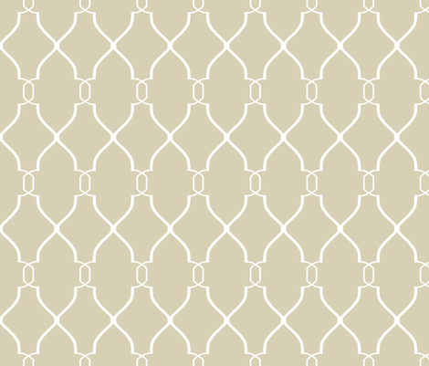 Laura Trellis in Khaki fabric by willowlanetextiles on Spoonflower - custom fabric