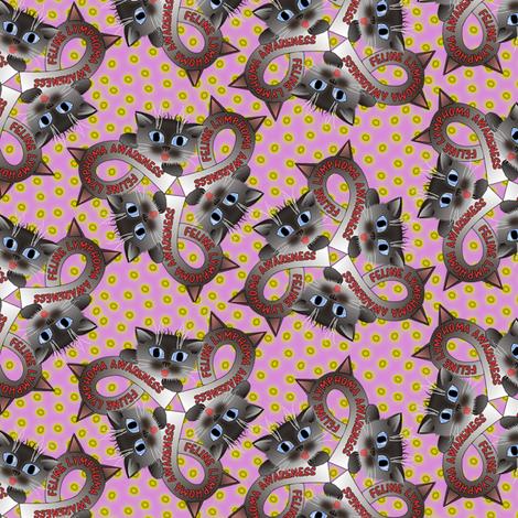feline lymphoma awareness fabric by glimmericks on Spoonflower - custom fabric