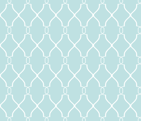 Laura Trellis in Aquamarine fabric by willowlanetextiles on Spoonflower - custom fabric