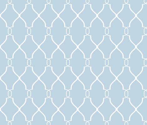 Blue Laura Trellis fabric by willowlanetextiles on Spoonflower - custom fabric