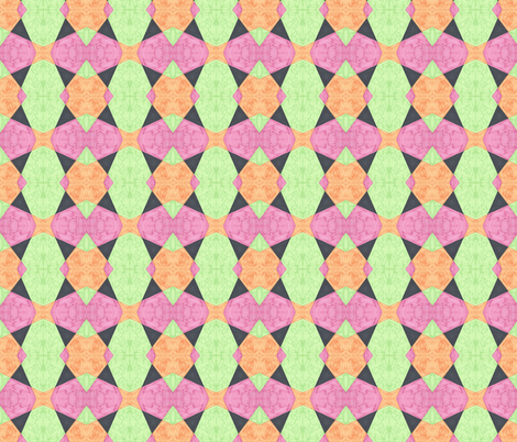 Pastel With Black Triangles fabric by empireruhl on Spoonflower - custom fabric