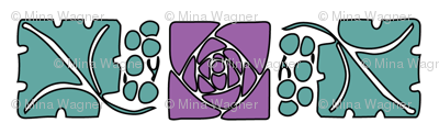 Type-ornaments-1 leaf mckintosh-rose-290violet  180minagreen