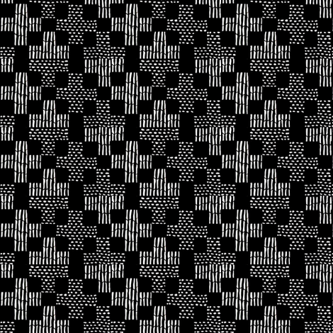 sticks & stones - black and white fabric by materialsgirl on Spoonflower - custom fabric