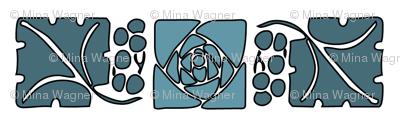 Type-ornaments-1 leaf mckintosh-rose-195-blue