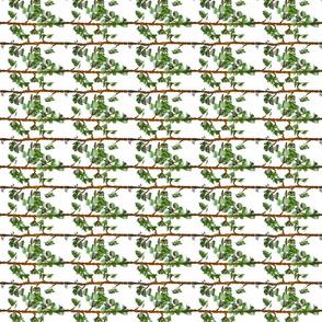 Leafy Pinstripes