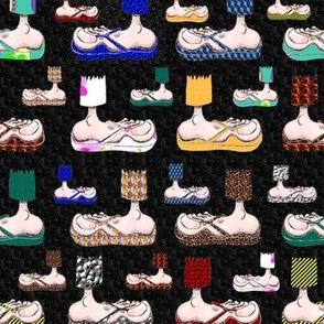 Feet with their BFF's ~ Flip-Flops! (black)