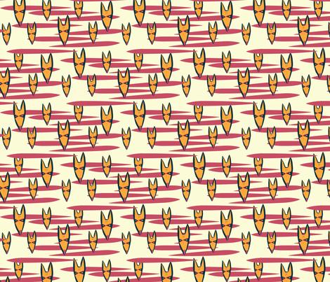 Fox Tribal Mask fabric by joyfulroots on Spoonflower - custom fabric