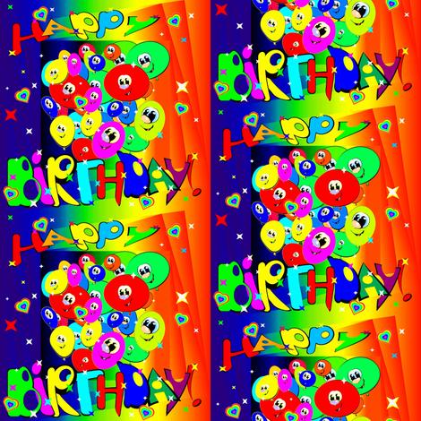 Happy Birthday fabric by retroretro on Spoonflower - custom fabric